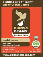 Birds & Beans - Scarlet Tanager, French Roast