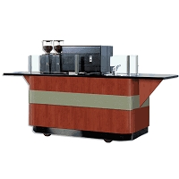 6 Foot Espresso Cart